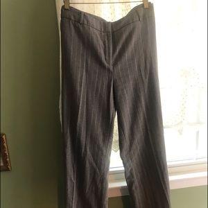 NY& Co warm winter pants 12 Gray& Silver Stripe